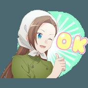 """สติ๊กเกอร์ไลน์ TV anime""""HAMEFURA""""2"""