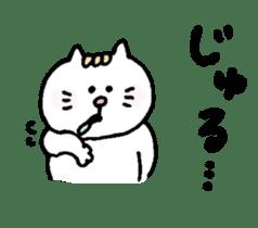 Kawaii White Kitty 2 sticker #11683370