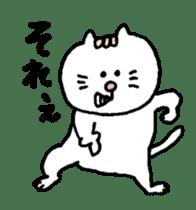 Kawaii White Kitty 2 sticker #11683376