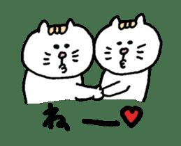 Kawaii White Kitty 2 sticker #11683393