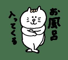 Kawaii White Kitty 2 sticker #11683394