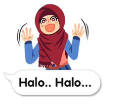 Hijab Sticker with Text Effect sticker #11698924
