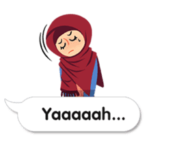 Hijab Sticker with Text Effect sticker #11698933