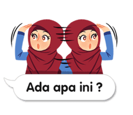 Hijab Sticker with Text Effect sticker #11698936