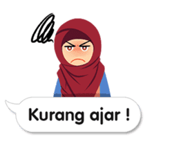 Hijab Sticker with Text Effect sticker #11698941