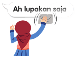 Hijab Sticker with Text Effect sticker #11698943