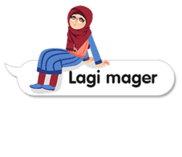 Hijab Sticker with Text Effect sticker #11698945