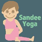 สติ๊กเกอร์ไลน์ Sandee Yoga
