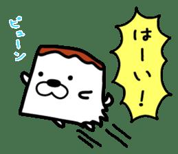 Tofu dog named Toufinu(1) sticker #11707282