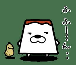 Tofu dog named Toufinu(1) sticker #11707295