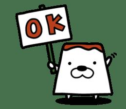 Tofu dog named Toufinu(1) sticker #11707306