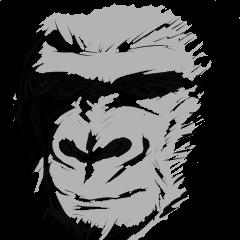 gorillas Sticker  be coool