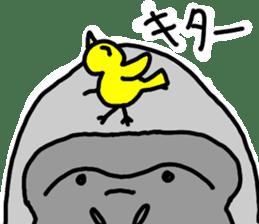 gorillas Sticker  be coool sticker #11708300