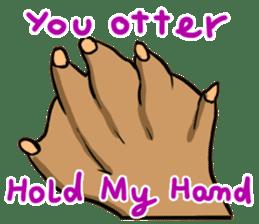 A Cute otter sticker #11712810