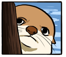 A Cute otter sticker #11712828
