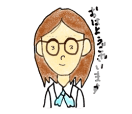 Office lady Keiko sticker #11712920