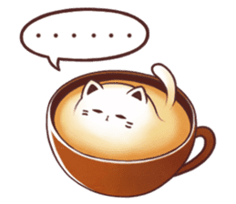 Sweet time Catppuccino sticker #11732784