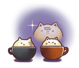 Sweet time Catppuccino sticker #11732786