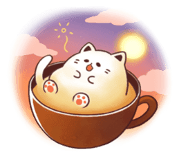 Sweet time Catppuccino sticker #11732793