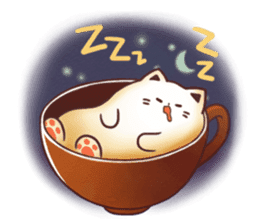 Sweet time Catppuccino sticker #11732794