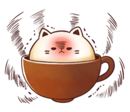 Sweet time Catppuccino sticker #11732796
