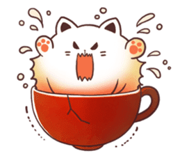 Sweet time Catppuccino sticker #11732797