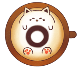Sweet time Catppuccino sticker #11732798