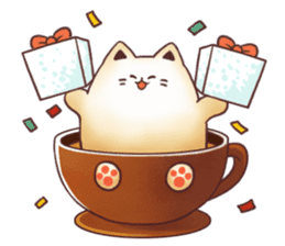 Sweet time Catppuccino sticker #11732808