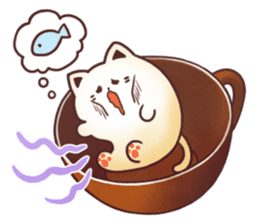 Sweet time Catppuccino sticker #11732816