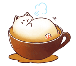 Sweet time Catppuccino sticker #11732817