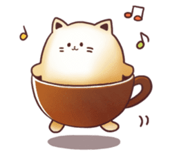 Sweet time Catppuccino sticker #11732818
