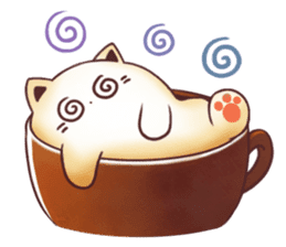 Sweet time Catppuccino sticker #11732823