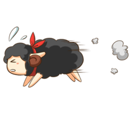 Little black sheep + sticker #11732877