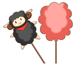 Little black sheep + sticker #11732897
