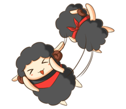 Little black sheep + sticker #11732899