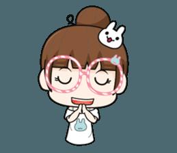 The glasses girl. + sticker #11734506