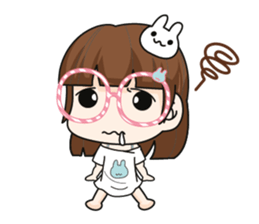 The glasses girl. + sticker #11734511