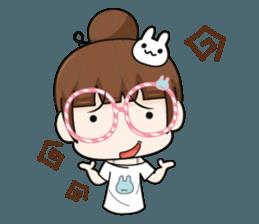 The glasses girl. + sticker #11734512