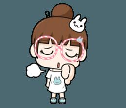 The glasses girl. + sticker #11734515