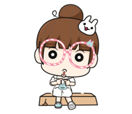 The glasses girl. + sticker #11734517
