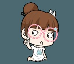 The glasses girl. + sticker #11734522