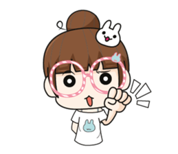The glasses girl. + sticker #11734525