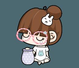 The glasses girl. + sticker #11734526