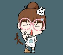 The glasses girl. + sticker #11734527
