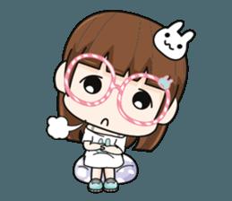 The glasses girl. + sticker #11734529