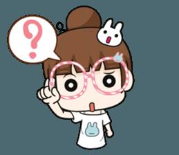 The glasses girl. + sticker #11734535