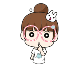 The glasses girl. + sticker #11734537