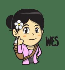 Mbak Ayu (Javanese) sticker #11735517