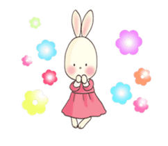 Cute bear and rabbit 8 by Torataro sticker #11754402