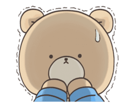 Cute bear and rabbit 8 by Torataro sticker #11754403